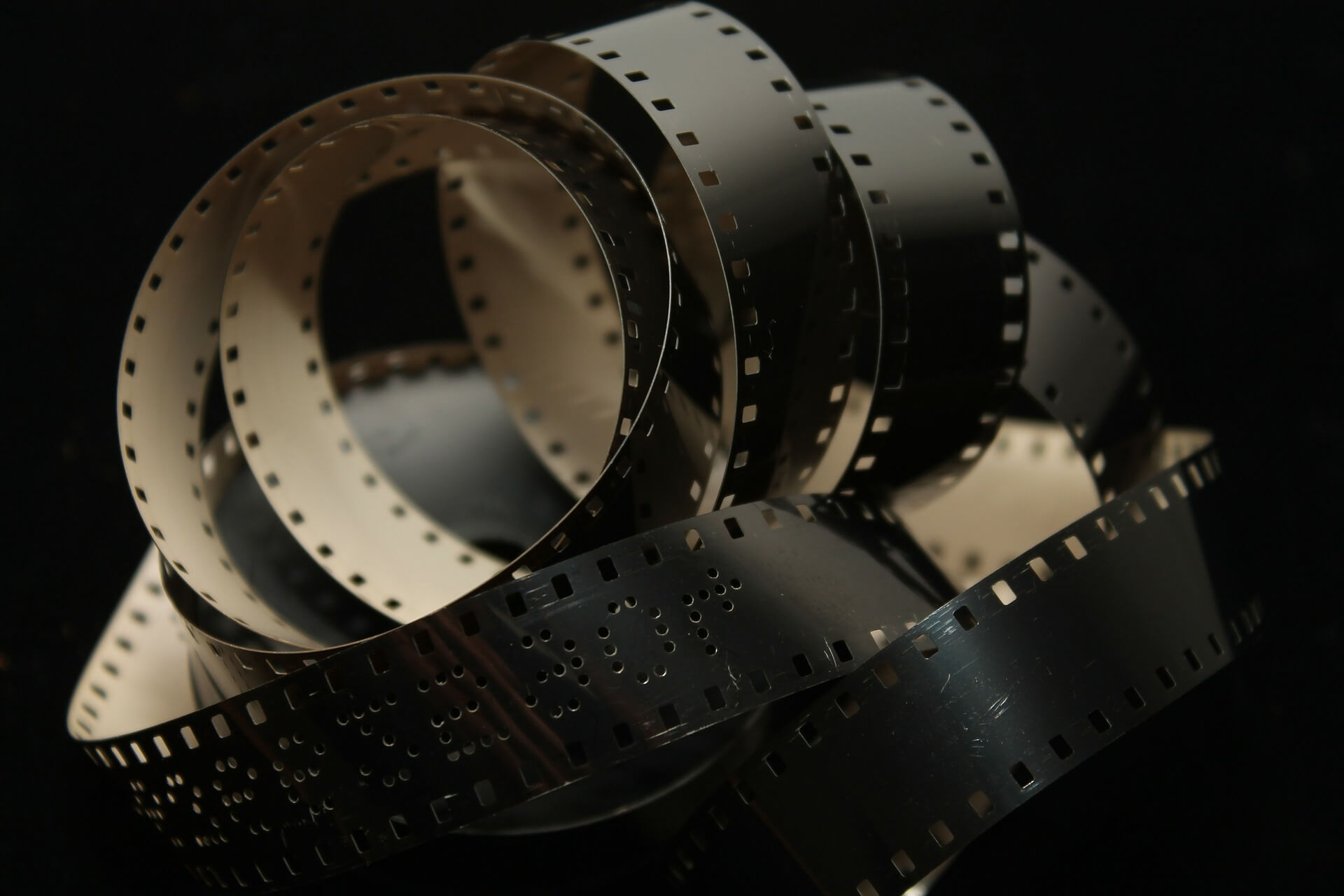 Unspooled roll of 35mm film